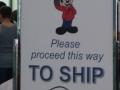 Bording the ship