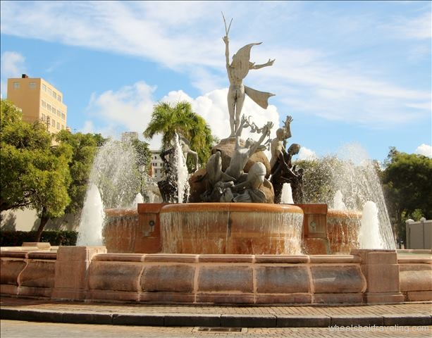 Fountain Representing Taino, Spanish and African Heritage of Puerto Rico