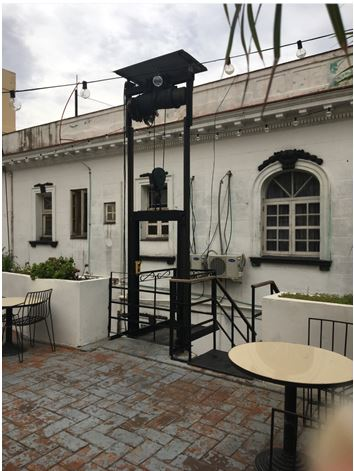 Wheelchair Lift to Bar-Restaurant at Casa Camilo