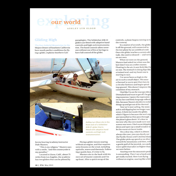 PN Magazine: Exploring Our World, Gliding High