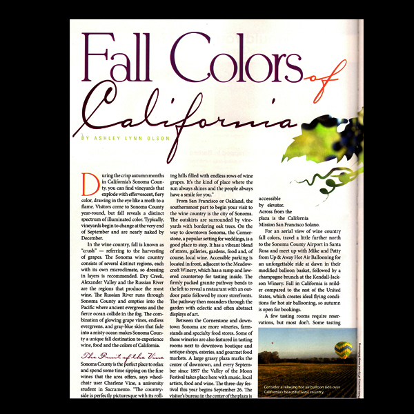 NM Magazine: Colors of California