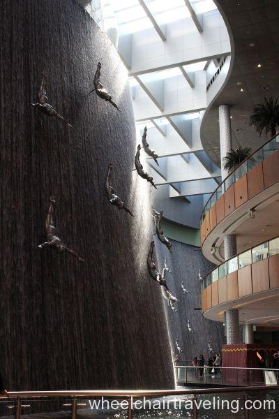 Dubai Mall Waterfall
