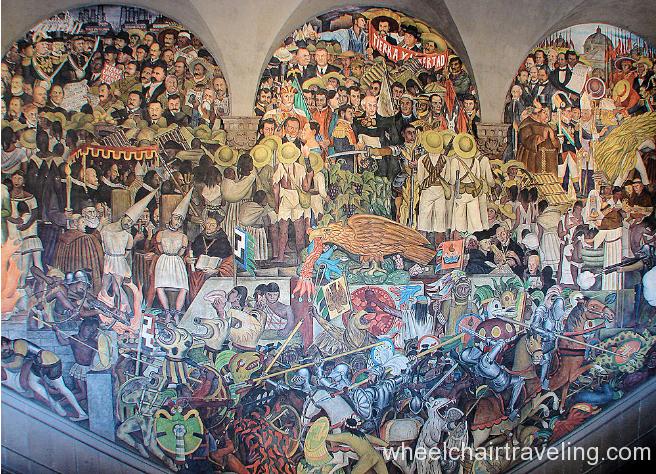 Diego Rivera mural at National Palace