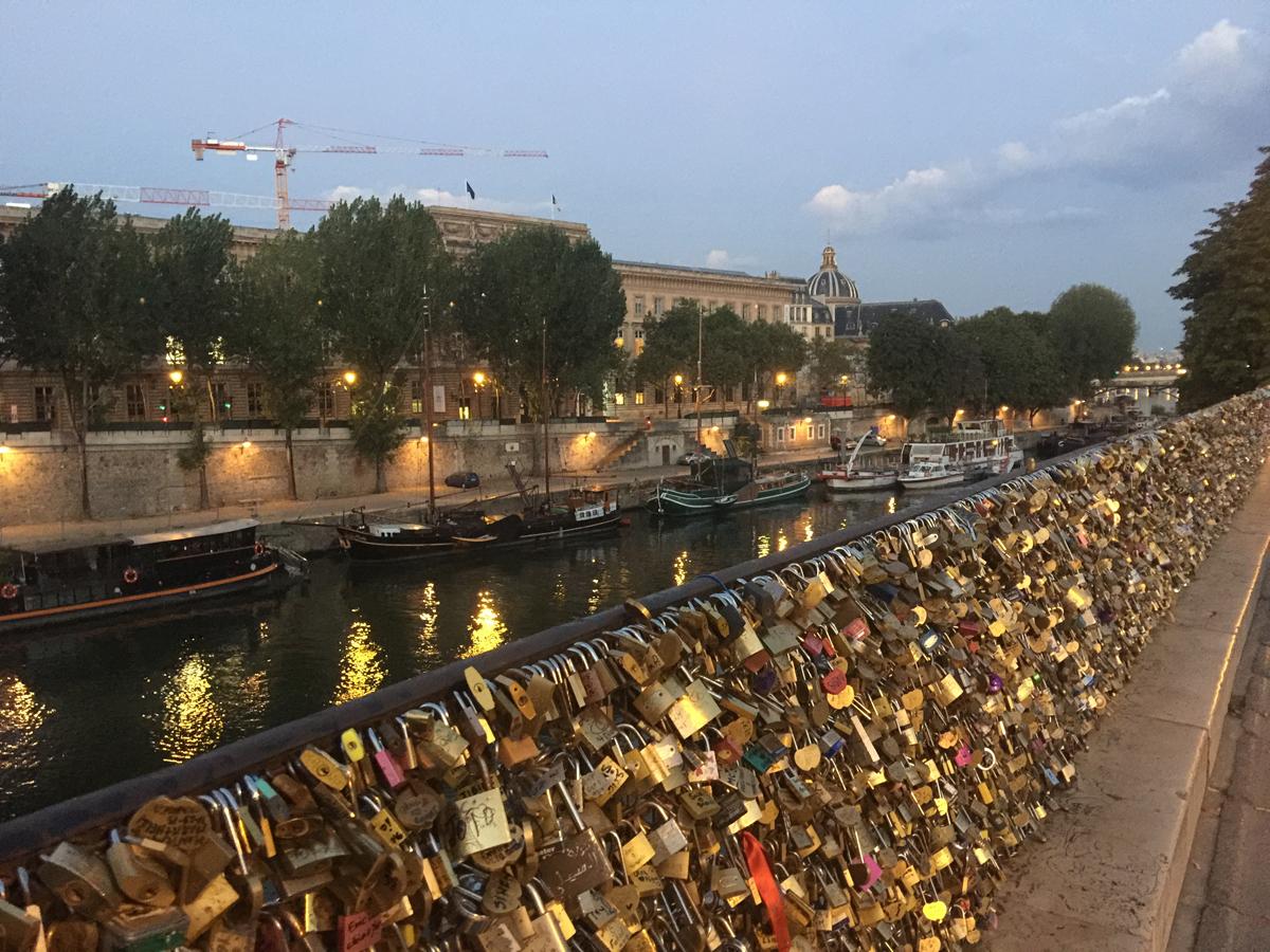 Love locks near pont neuf.