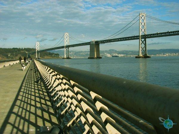 Pier 14 overlooking the Bay Bridge