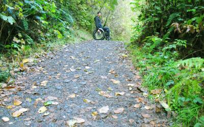 Wheelchair Hiking at Van Damme State Park, CA