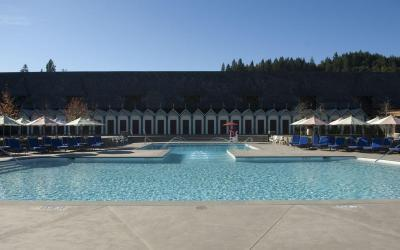 Accessible Cabana Pool at the Francis Coppola Winery in California