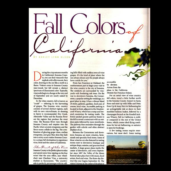 NM Magazine: Colors of California