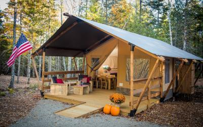 Maine Accessible Glamping Yurt Campsite